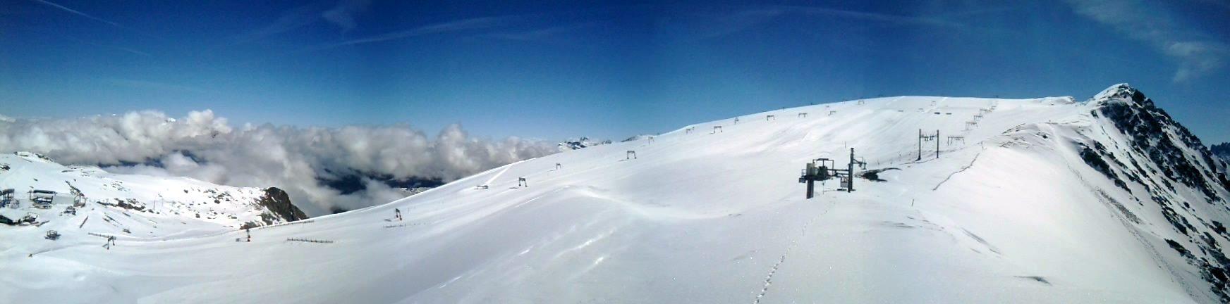Current conditions on Les 2 Alpes glacier
