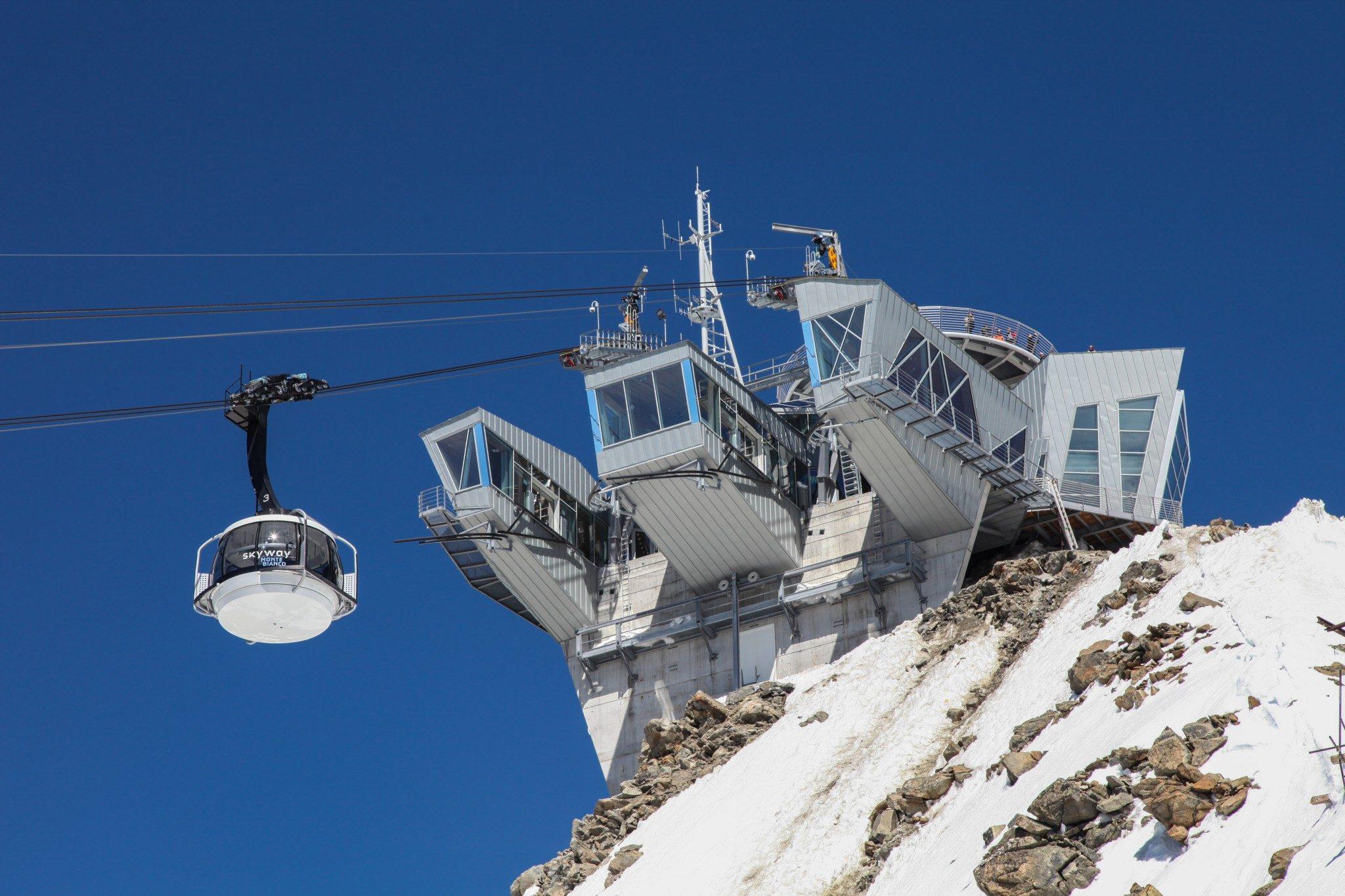 Funivie mont blanc courmayeur italy webcam
