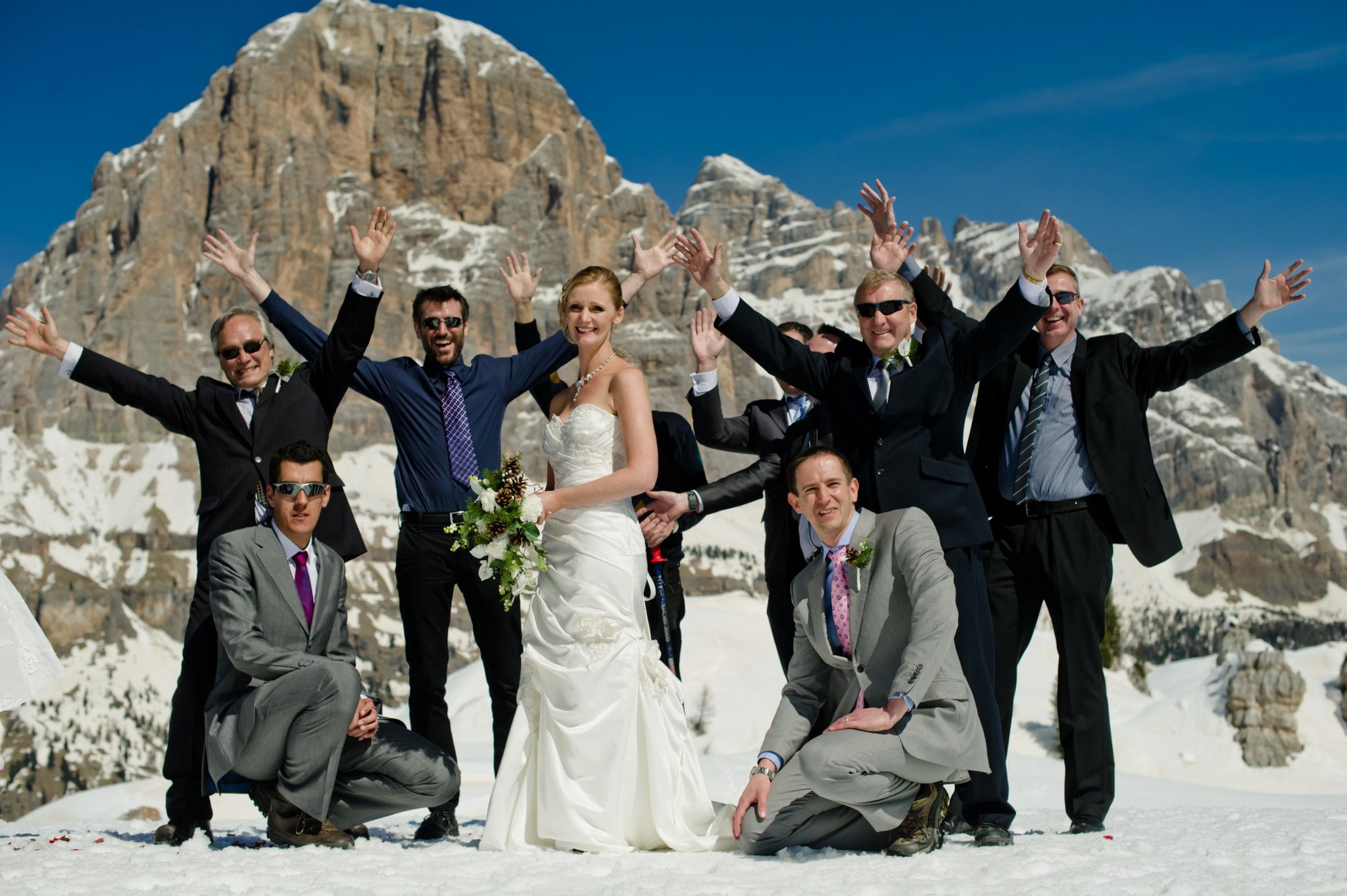 The Song Lyric Its A Nice Day For White Wedding Takes On Whole New Meaning With Backdrop Of Spectacular Snowy Mountain Scenery And It Should Be