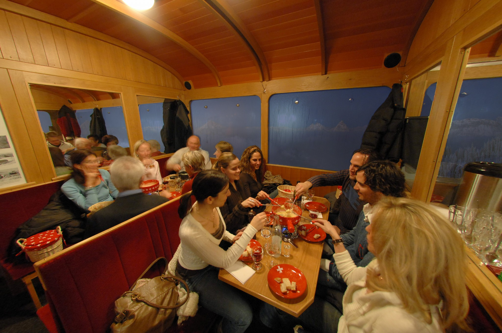 Fondue train on Mt. Rigi (2)