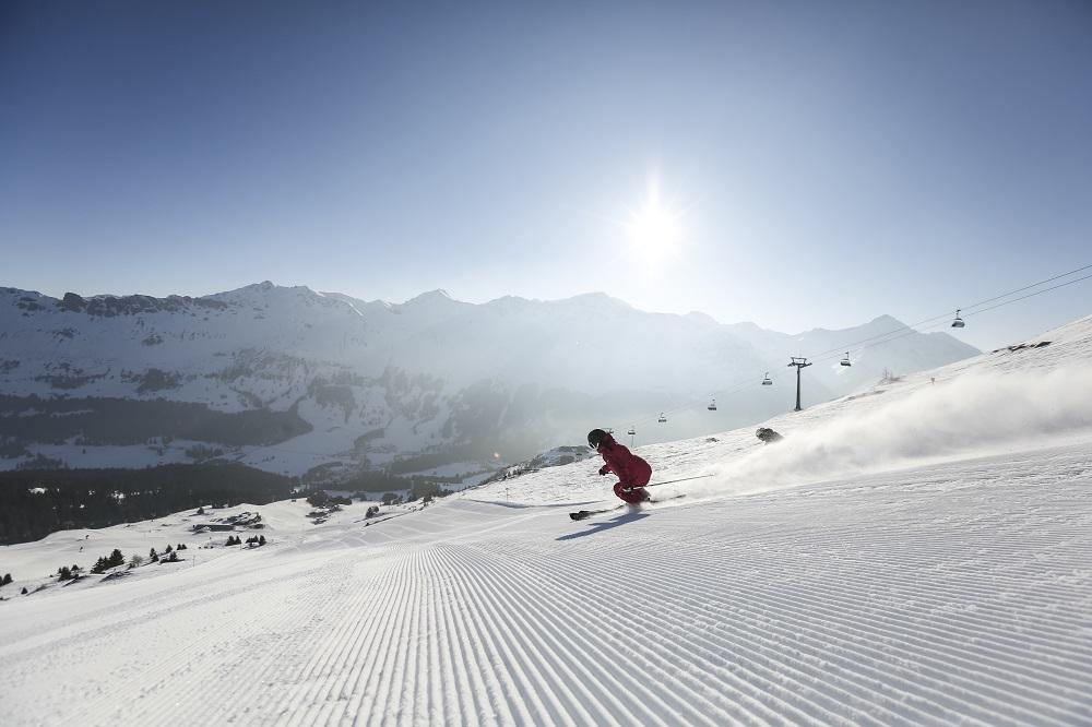Ski Piste, Bergbahn, Westseite, Stätzerhorn