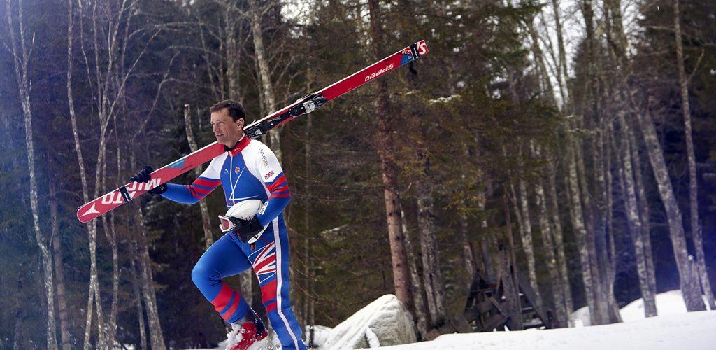 Graham Bell Fastest Man oN Skis