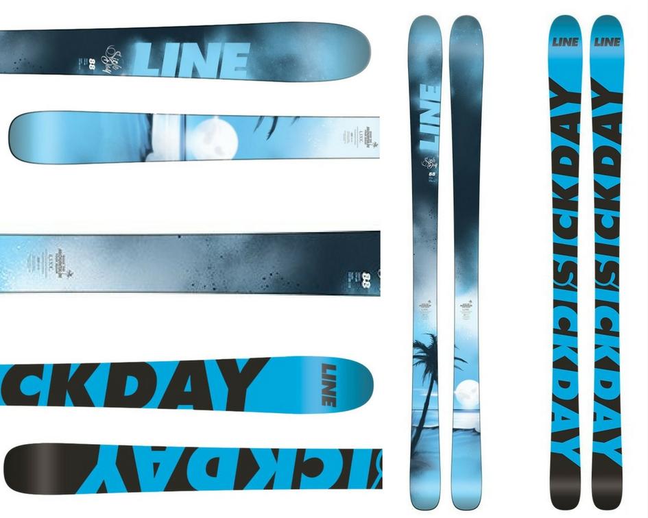 Line Sick Day 88 Skis Mens