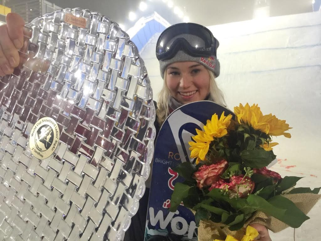 Katie Ormerod Wins Silver Milan Snowboard Big Air World Cup 2017