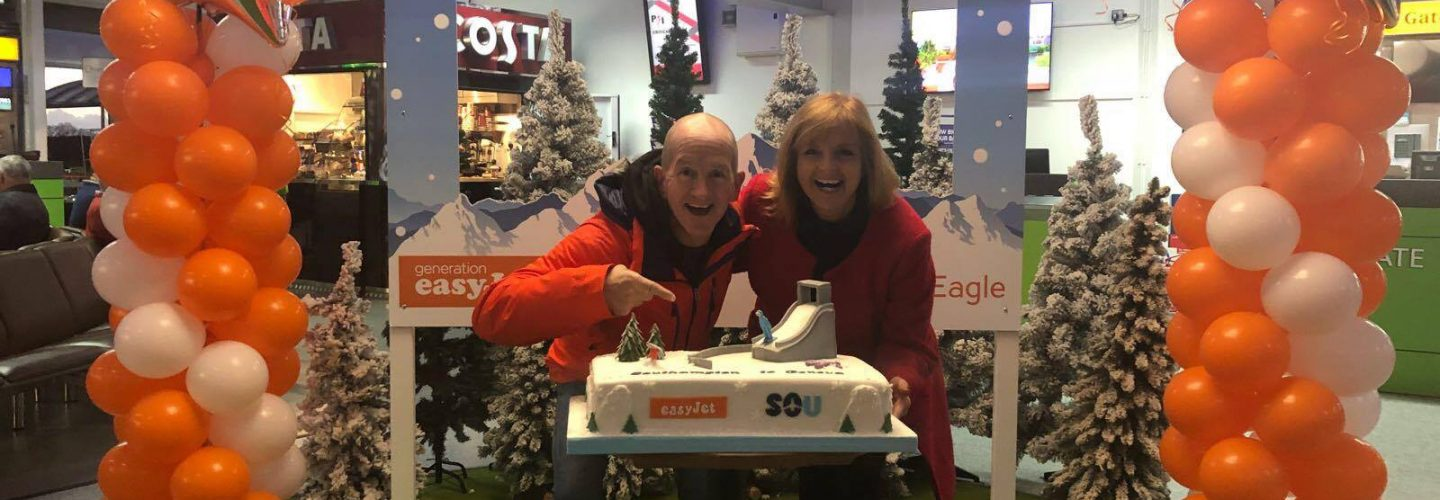 Easyjet Launch Southampton to Geneva Service with Help from Eddie the Eagle
