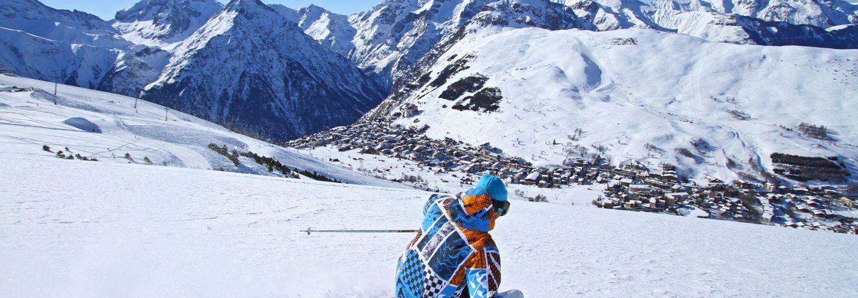 summer glacier skiing