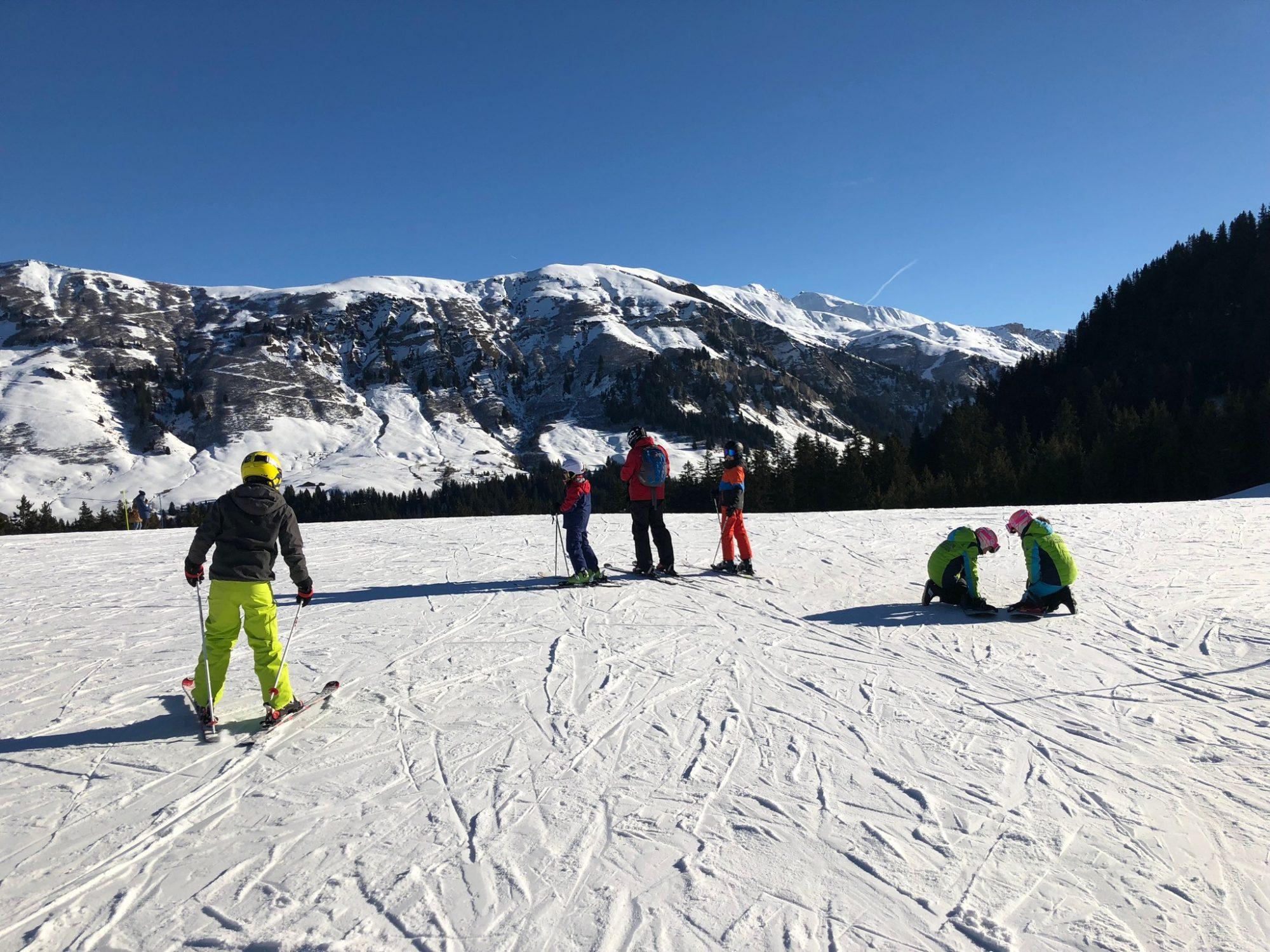 How to ski on ice