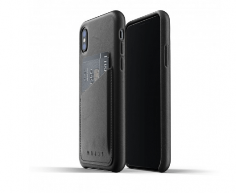 Mujjo Full Leather Wallet Case for iPhone Xs